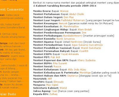 daftar menteri