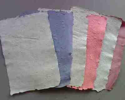 Hasil kertas daur ulang