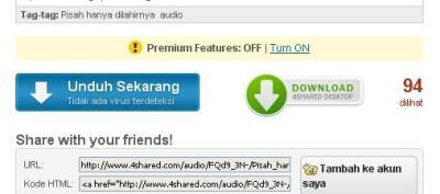 Cara Download di 4Shared