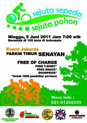 Poster Sejuta sepeda Sejuta Pohon
