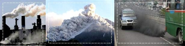 emisi karbon hasil manusia vs gunung berapi