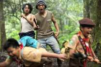 Salah satu adegan di film 5 Elang