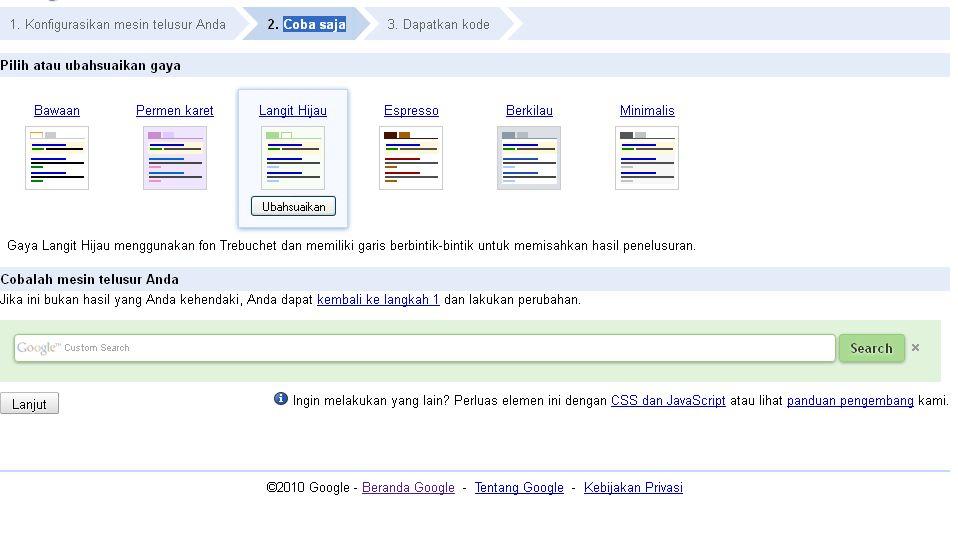 how to do google custom search