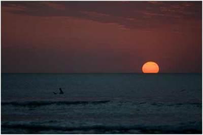 Sunset di pantai Kuta Bali