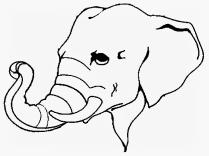 Mewarnai Gambar Gajah