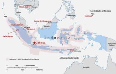 Peta Potensi Panas Bumi Indonesia
