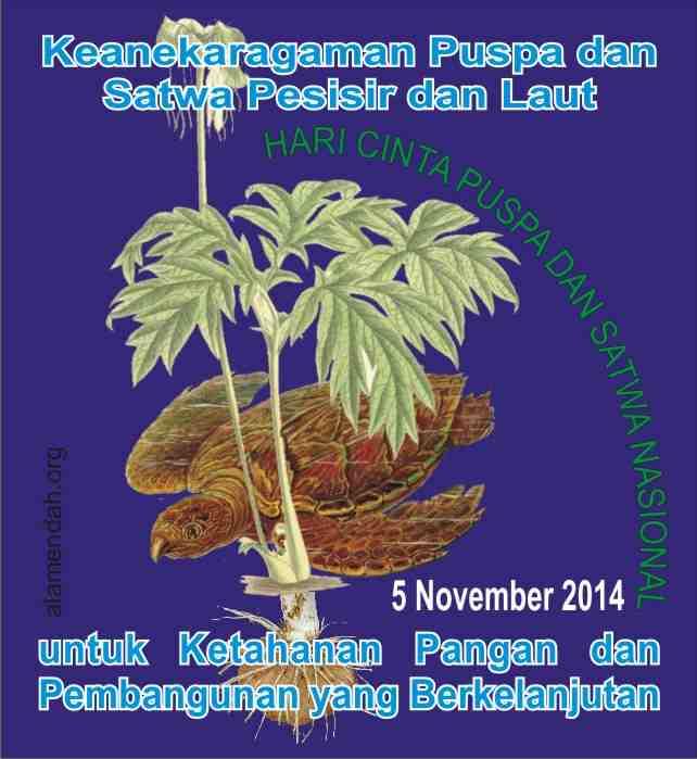Tema dan Maskot Hari Cinta Puspa dan Satwa Nasional 2014