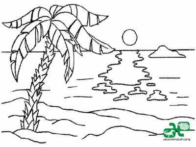 Mewarnai-Gambar-Pemandangan-Alam-Hitam-Putih-06