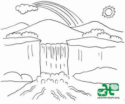 Mewarnai-Gambar-Pemandangan-Alam-Hitam-Putih-08