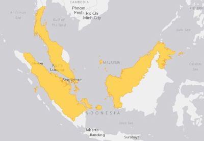 Peta Persebaran Kura-kura Duri