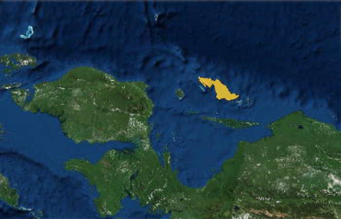 Daerah Sebaran Kuskus Tutul Biak (Spilocuscus wilsoni)