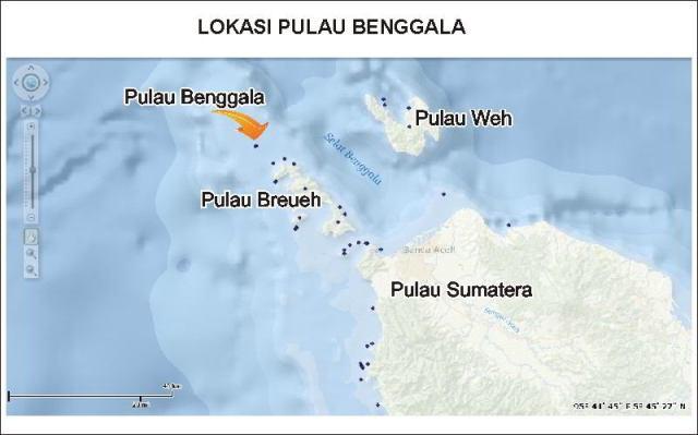 Lokasi Pulau Benggala