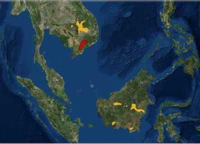 Daerah Sebaran Ibis Karau (Pseudibis davisoni)